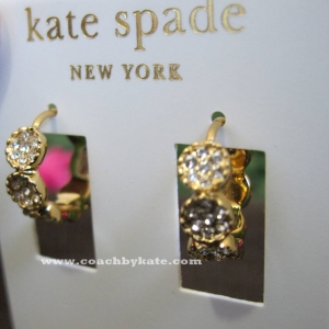 Accessory ชุดเครื่องประดับ Kate Spade ต่างหูเพชรสังเคราะห์ ทอง 14K