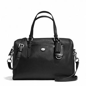 กระเป๋า COACH Peyton Leather Nancy Satchel Black F31403 SV/BK