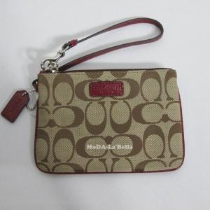 กระเป๋าคล้องแขน COACH F51775 SKHCM Wristlet Wallet