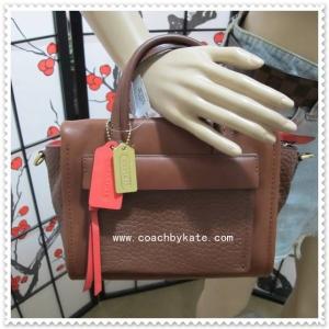 กระเป๋า COACH 28042 B4CC0 BLEEKER MINI RILEY CROSS BODY BAG RED CHESTNUT