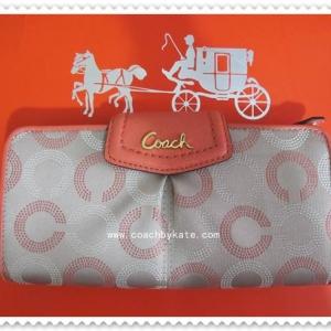 กระเป๋า COACH F48050 B4BW4 Ashley Dotted Op Art Slim Envelope
