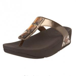 สินค้าอยู่ USA- รองเท้า Fitflop Pietra สี Bronze ขนาด US 9 = 40-41