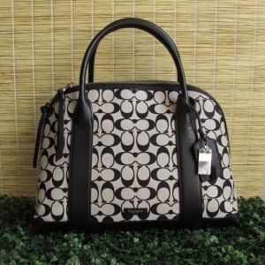 กระเป๋า COACH BLEECKER PRESTON SATCHEL IN PRINTED SIGNATURE FABRIC BLACK