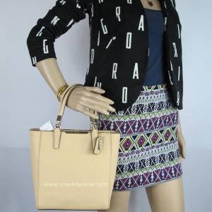 กระเป๋า COACH 29001 LITN2 Madison Tan Saffiano Leather Mini NS Tote Shoulder Bag