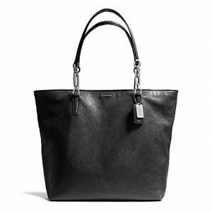 กระเป๋า COACH 26225 LIBNH MADISON LEATHER NORTH SOUTH TOTE สีดำ