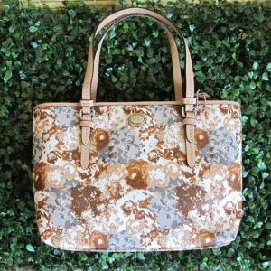 กระเป๋า COACH F52086 SV/GE PEYTON Top Handle Mini TOTE ELEGANT