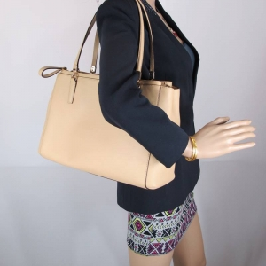 กระเป๋า COACH 29422 LITN2 MADISON CHRISTIE CARRYALL TAN SAFFIANO LEATHER TOTE BAG