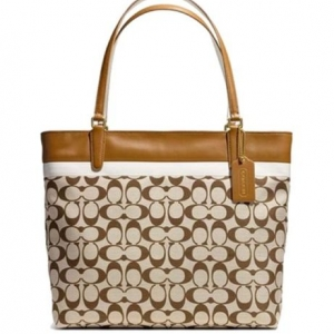 กระเป๋า Coach 29423 BKHSD Tote in Printed Signature Fabric Bag Purse