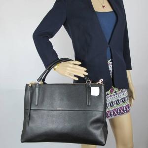 กระเป๋า COACH F28129 The Large Pebbled Leather Borough Bag Handbags Color Lightgold/Black
