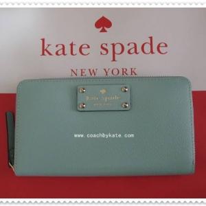 สินค้าอยู่ USA ; กระเป๋าสตางค์ Kate Spade Neda WLRU1153 Wellesley Robinsegg(361) Wallet Zip around