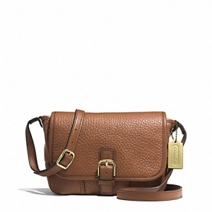 กระเป๋า Coach F31664 B4/SD Hadley Luxe Grain Leather Field CrossBody Bag สีน้ำตาล
