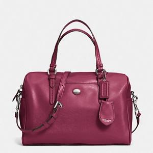 กระเป๋า COACH Peyton Leather Nancy Satchel Black F31403 SVMER