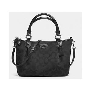 กระเป๋า Coach F33416 SV/BK Colette Signature Mini Fashion Satchel สีดำ