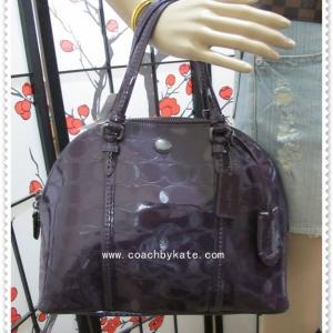 กระเป๋า COACH F32583 GMPLU Peyton Link C Embossed Cora Domed Satchel Bag