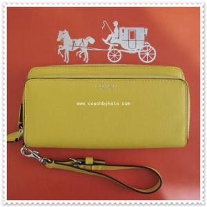 กระเป๋า COACH F51305 LICKG SAFFIANO LEATHER DOUBLE ZIP ACCORDION WALLET
