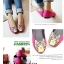 Pre Order - รองเท้าแฟชั่น หุ้มส้น หัวรองเท้าเป็นรูปเสือ แบบสดใส สี : สีชมพู / สีเขียว / สีน้ำเงิน / สีดำ thumbnail 8