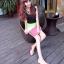 Pre Order - รองเท้าแฟชั่น ดีไซด์ลูกอมหลากสี ปลายแหลม ส้นเตี้ย สี : สีขาว-ดำ / สีขาว-ชมพู / สีขาว-เหลือง thumbnail 7