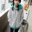 Pre Order - เสื้อกันหนาวแฟชั่น ดีไซด์สดใส : สีส้ม / สีเขียว / สีน้ำเงิน / สีเทา thumbnail 6
