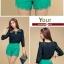 ++เสื้อผ้าไซส์ใหญ่++Qian Fei Mei* Pre-Order* กางเกงแฟชั่นไซส์ใหญ่แต่งผ้าลูกไม้ปลายกางเกงและด้านหน้ามีกระเป๋าหลัง 2 ข้างสวยจ้า thumbnail 11
