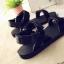 Pre Order - รองเท้าแฟชั่นเกาหลี รองเท้าแตะ เบาสบาย ส้นเตี้ย ลายเก๋ ๆ สี : สีดำ / สีน้ำตาลลายเสือ / สีขาวลายม้าลาย thumbnail 3