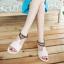 Pre Order - รองเท้าแฟชั่น ส้นเตี้ยแบน หวาน ๆ สไตล์ลำลอง สี : สีม่วง / สีชมพู / สีครีม thumbnail 5