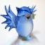 นกฮูกแก้วเป่า Glass Figurine Owl thumbnail 2