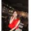 ++สินค้าพร้อมส่งค่ะ++ ชุดเซ็ทเกาหลี คอกลม แขนกุด ลำตัวกว้าง+กระโปรงเข้ารูปสวยเก๋ – สีแดง/ดำ thumbnail 9