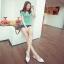 Pre Order - รองเท้าแฟชั่นเกาหลี แบบลำลอง หวาน ๆ เน้นรูปทรงเท้า สี : สีน้ำเงิน / สีเขียว / สีม่วง / สีขาว thumbnail 3