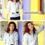 ++สินค้าพร้อมส่งค่++ Jacket เกาหลี แขนยาว มี hood สองชั้น ลาย น้องแมวหน้าหลังน่ารัก สีเทา thumbnail 3