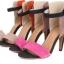 Pre Order - รองเท้าแฟชั่น ส้นสูง รัดข้อหุ้มส้น เป็นหนังกำมะหยี่ สี : สีแดงน้ำตาล / สีส้ม thumbnail 9