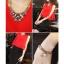 ++สินค้าพร้อมส่งค่ะ++ ชุดเซ็ทเกาหลี คอกลม แขนกุด ลำตัวกว้าง+กระโปรงเข้ารูปสวยเก๋ – สีแดง/ดำ thumbnail 8