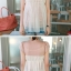 ++เสื้อผ้าเกาหลี++cherry dress*พร้อมส่ง*เสื้อผ้าแฟชั่น เสื้อชีฟอง ผ้า Cotton เสริมฟองน้ำที่ไหล่ แต่งระบายผ้าตาข่าย สีชมพู thumbnail 7