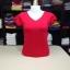 """เสื้อยืดคอวี สีแดง size """"M"""" thumbnail 1"""
