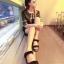 Pre Order - รองเท้าแฟชั่นเกาหลี รองเท้าแตะ เบาสบาย ส้นเตี้ย ลายเก๋ ๆ สี : สีดำ / สีน้ำตาลลายเสือ / สีขาวลายม้าลาย thumbnail 10