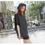 Pre Order - เสื้อแฟชั่นเกาหลี ใส่สลาย ปลายแขนและชายเสื้อเย็บผ้าชีฟอง ตัวใหญ่เหมาะกับฤดูร้อน สี : สีขาว / สีดำ thumbnail 1