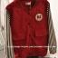 ++สินค้าพร้อมส่งค่ะ++เสื้อ jacket เกาหลี คอปก แขนยาว ผ้าฝ้าย+ผ้ายีนส์เนื้อดี แต่งปัก Rockey 52 เก๋ด้วยแขนลายริ้ว สไตล์ harajuku – สีแดงเลือดหมู thumbnail 7