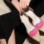 Pre Order - รองเท้าแฟชั่นเกาหลี ซีทรู แบบน่ารัก ส้นสูง สี : สีดำ / สีทอง / สีน้ำเงิน thumbnail 4