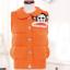 Ouremu ++สินค้าพร้อมส่งค่ะ++เสื้อ jacket เกาหลี แขนกุด กระดุมหน้า ไหมพรมซับในขนเฟอร์เก๋ ลาย Paul Frank – สีส้ม thumbnail 8