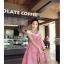 ++ สินค้าพร้อมส่งค่ะ++ชุดเดรสแฟชั่นเกาหลี 2 ชิ้น เสื้อแขนสั้น+เอี้ยมกระโปรง ลายตาราง - สีชมพูแดง thumbnail 2