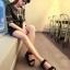 Pre Order - รองเท้าแฟชั่นเกาหลี รองเท้าแตะ เบาสบาย ส้นเตี้ย ลายเก๋ ๆ สี : สีดำ / สีน้ำตาลลายเสือ / สีขาวลายม้าลาย thumbnail 9