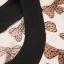 ++เสื้อผ้าไซส์ใหญ่++* Pre-Order* เดรสผ้า spandex ไซส์ใหญ่ แขนยาวสีขาว ลายโบว์สีน้ำตาลตัดต่อกระโปรงผ้าลูกไม้เนื้อดีสีดำ thumbnail 6