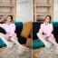 ++สินค้าพร้อมส่งค่ะ++ เสื้อแฟชั่นเกาหลี คอปก แขนยาว ผ้าฝ้ายเนื้อดี ดีไซด์เท่ห์ แต่งเก๋คู่กับเข็มขัด 1 เส้น มี 3 สีค่ะ – สีชมพู thumbnail 4