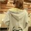 ++สินค้าพร้อมส่งค่ะ++ jacket เกาหลี แขนยาว มี hood มีซับในลายริ้วน่ารัก ผ้า cotton sweater เนื้อหนา สกรีนลายการ์ตูน - สีเทา thumbnail 6