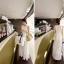 OTTO*พร้อมส่ง*เดรสยาวผ้าไหมชีฟองสีขาวมีซิปหลัง+เชือกผูกเอว มีเสื้อซับในสายเดี่ยวตัวยาว+ สายปรับความยาวได้ สำเนา thumbnail 5