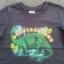 ฺBSH-218 (3Y) เสื้อเด็กชาย สีกรมท่าตัดต่อแขนสีครีม ลายBronta Saurus สีเขียว thumbnail 2