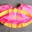 GSK-047 (18M) กระโปรงผ้าทอ Maggie & Zoe สีชมพู ระบายชายด้วยผ้าสีส้มจุดขาว มีผ้าซับใน thumbnail 2