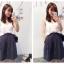 ++สินค้าพร้อมส่งค่ะ++กางเกงขาห้าส่วนเกาหลี ผ้า polyester เนื้อหนา ทรงขากว้าง มี 2 สีค่ะ สี Dark Blue thumbnail 5
