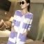 ++สินค้าพร้อมส่งค่ะ++ เสื้อcardigan เกาหลี ตัวยาว ผ้า Arcylic เนื้อแน่น ทอลายริ้ว แต่งกระดุมคู่ช่วงอก สีหวานมากค่ะ – สีม่วง thumbnail 2