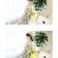 ++สินค้าพร้อมส่งค่ะ++ ชุด jumpsuit กางเกงขาสั้นเกาหลี สายเดี่ยว ผ้าพิมพ์ลายดอกไม้ จั้มเอว แต่งกระเป๋ากางเกงสองข้าง – สีเหลือง thumbnail 3