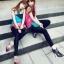 Pre Order - รองเท้าแฟชั่นเกาหลี ซีทรู แบบน่ารัก ส้นสูง สี : สีดำ / สีทอง / สีน้ำเงิน thumbnail 2